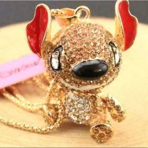 LILO & Stitch Betsey Johnson rhinestone necklace!
